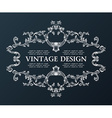 vintage royal old frame ornament decor black vector image