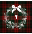 Christmas greeting card invitation White vector image