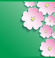 3d flowers abstract floral background vector image