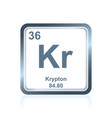 chemical element krypton from the periodic table vector image