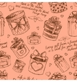 Seamless gift present boxes pattern vector image
