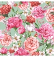 Summer Seamless Watercolor Pattern with Pink vector image