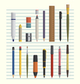 drawing and writing tool set vector image