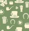 Seamless background St Patricks attributes Retro vector image