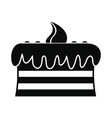 Chocolate cake icon vector image