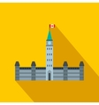 Parliament Buildings Ottawa icon flat style vector image