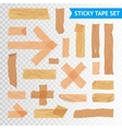 StickyTape Strips Set Transparent Background vector image
