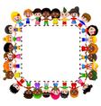 happy children different races vector image