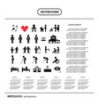 basic icon set for human life info graphic vector image