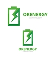 battery logo design template vector image