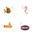 flat icon nature set of scallop seafood vector image