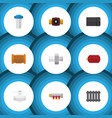 flat icon plumbing set of water filter tube pipe vector image