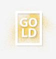 frame over gold background gold concept premium vector image