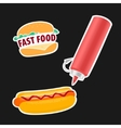 Hot Dog and Hamburger symbol vector image