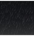 Rain on transparent plaid background vector image