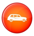Retro car icon flat style vector image