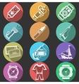 Scuba equipment flat color icons vector image