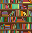 Seamless pattern of bookshelf with books vector image