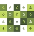 Tree icons Flat style vector image