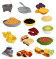 latin american food vector image