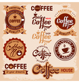 Coffee label vector image vector image