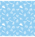 pattern with winter sports icons vector image vector image