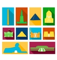 Landmarks of Egypt vector image