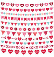 Valentines Day decoration set vector image