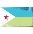 djibouti national flag vector image vector image