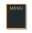Restaurant menu board in a wooden frame vector image