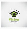 Green Eye Logo vision vector image