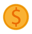 coin with dollar sign icon vector image