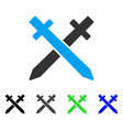 Crossing swords flat icon vector image