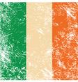Ireland retro flag vector image