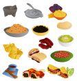 Latin american food vector image