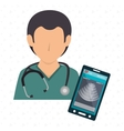 nurse stethoscope medical service vector image