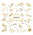 Pasta Set Collection vector image