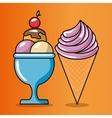 birthday celebration ice cream vector image