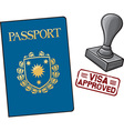 Passport Visa Approved vector image vector image