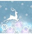 cut from paper deer vector image vector image