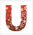U Letter vector image