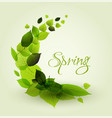 spring abstract floral background vector image vector image
