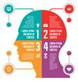 Infographic Business Concept with Human Head vector image