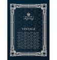 Label frame Vintage antique decor ornament vector image vector image