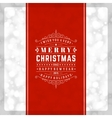 Christmas retro typography and light background vector image