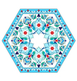 artistic ottoman pattern series five vector image