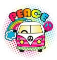 hippie bus vector image