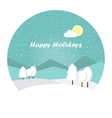 Wonderful winter morning of Christmas vector image vector image