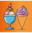 birthday celebration ice cream vector image