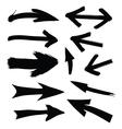 black directional arrows vector image